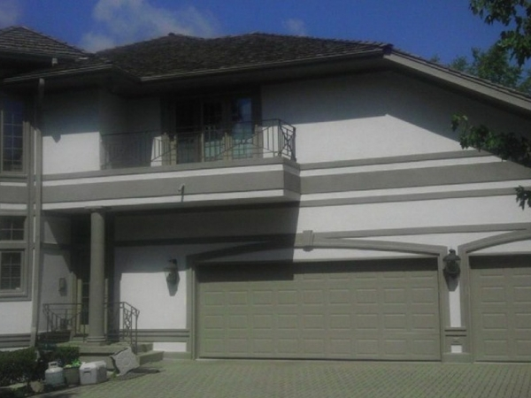 stucco refinishing with permanent paint in park ridge